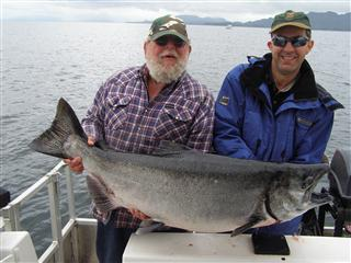 Big Chinook Salmon