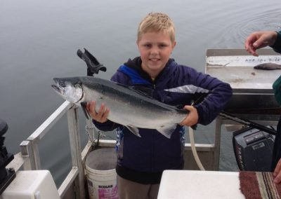 His first Coho catch - 2015