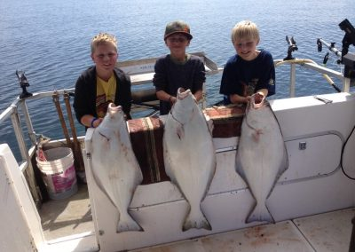The boys with their Halibut - 2015